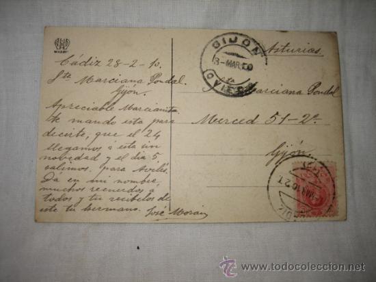Postales: ECCE-HOMO COBRE FIRMADO POR JUSEPE DERIBERA VALENCIANO MUSEO CADIZ CIRCULADA GIJON-OVIEDO CADIZ - Foto 2 - 11960645