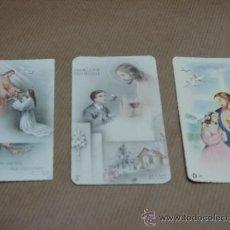 Postales: 3 RECORDATORIOS PRIMERA COMUNION 1948-50-56. Lote 12243202