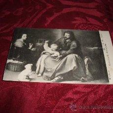 Postales: POSTAL SACRA FAMILIA DEL PAJARITO-MURILLO MUSEO DEL PRADO FOT LACOSTE-MADRID. Lote 12749441