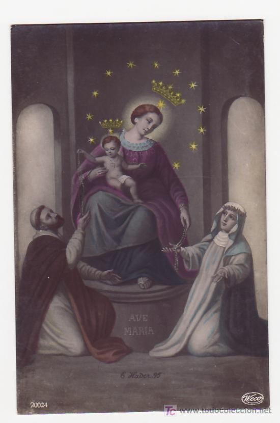 Tarjeta postal virgen del rosario comprar postales religiosas y tarjeta postal virgen del rosario postales religiosas y recordatorios thecheapjerseys Choice Image