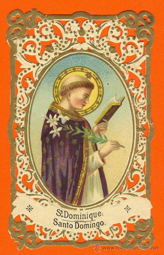 estampa calada santo domingo chocolates la espaa madrid postales religiosas