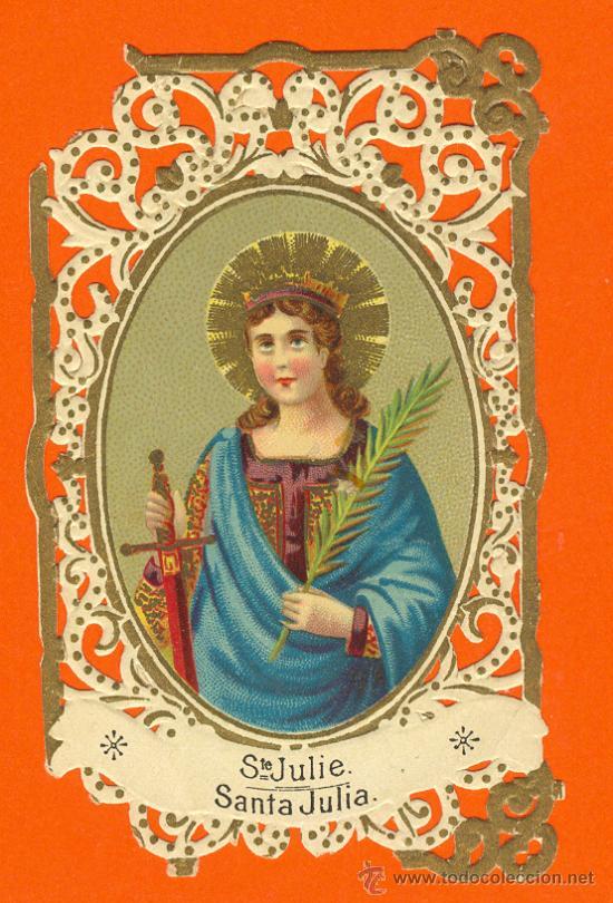 estampa calada santa julia chocolates la espaa madrid postales religiosas