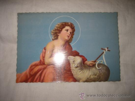 NIÑO CON OVEJA (Postales - Postales Temáticas - Religiosas y Recordatorios)