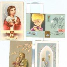 Postales: 4 RECORDATORIOS COMUNIÓN (AÑOS 50 Y 60). Lote 21953168