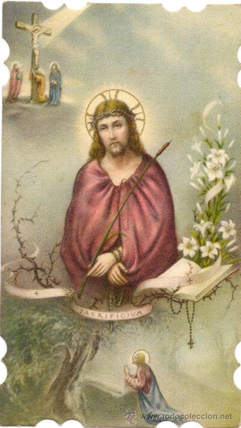 ANTIGUA ESTAMPA RELIGIOSA. JESUCRISTO (Postales - Religiosas y Recordatorios)