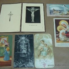 Postales: LOTE 6 RECORDATORIOS RELIGIOSOS 1937 - 1949 . Lote 27570649