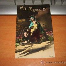 Postales: MIL FELICIDADES FECHADA 1919. Lote 15681886