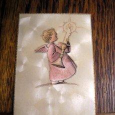 Postales: RECORDATORIO PRIMERA COMUNIÓN SEGOVIA 1954 ANGEL . Lote 16876705