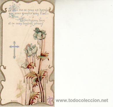 RECORDATORIO AÑO 1909. FRANCÉS.RECUERDO DE UN RETIRO.VEA MAS EN RASTRILLOPORTOBELLO (Postales - Postales Temáticas - Religiosas y Recordatorios)
