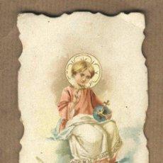 Postales: ESTAMPA RELIGIOSA MODERNISTA. EL NIÑO JESÚS. TROQUELADA.. Lote 23832844