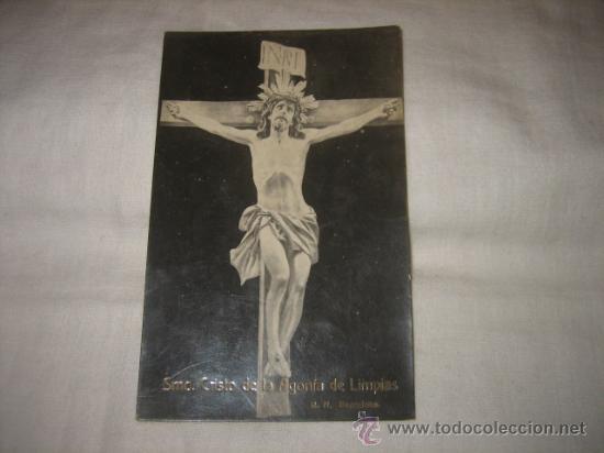 SMO CRISTO DE LA AGONIA DE LIMPIAS R.N. BARCELONA CIRCULADA GIJON 26.3.1920 (Postales - Postales Temáticas - Religiosas y Recordatorios)