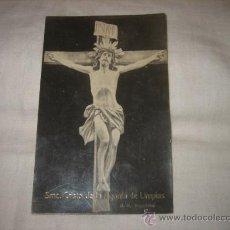 Postales: SMO CRISTO DE LA AGONIA DE LIMPIAS R.N. BARCELONA CIRCULADA GIJON 26.3.1920. Lote 17692017