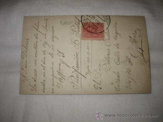 Postales: SMO CRISTO DE LA AGONIA DE LIMPIAS R.N. BARCELONA CIRCULADA GIJON 26.3.1920 - Foto 2 - 17692017
