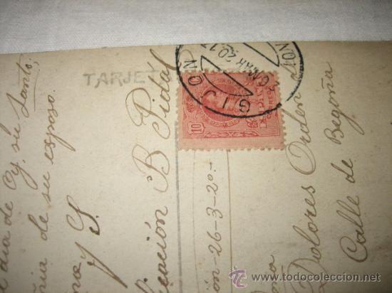 Postales: SMO CRISTO DE LA AGONIA DE LIMPIAS R.N. BARCELONA CIRCULADA GIJON 26.3.1920 - Foto 3 - 17692017