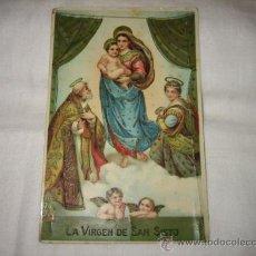 Postales: LA VIRGEN DE SAN SISTO. Lote 17692152
