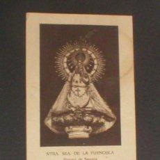 Postales: SEGOVIA VIRGEN DE LA FUENCISLA. Lote 21608774