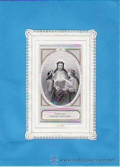 RECORDATORIO FRANCÉS- FINALES AÑOS 1800.CALADO (Postales - Postales Temáticas - Religiosas y Recordatorios)