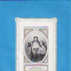 Postales: RECORDATORIO FRANCÉS- FINALES AÑOS 1800.CALADO . Lote 26554553