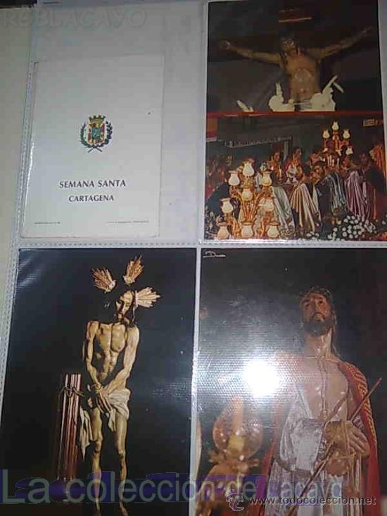 Postales: ALBUM CON FOTOS Y POSTALES DE LA SEMANA SANTA DE CARTAGENA - Foto 4 - 18525742