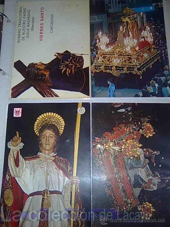 Postales: ALBUM CON FOTOS Y POSTALES DE LA SEMANA SANTA DE CARTAGENA - Foto 10 - 18525742