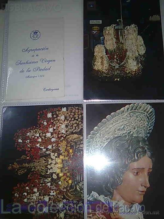Postales: ALBUM CON FOTOS Y POSTALES DE LA SEMANA SANTA DE CARTAGENA - Foto 12 - 18525742