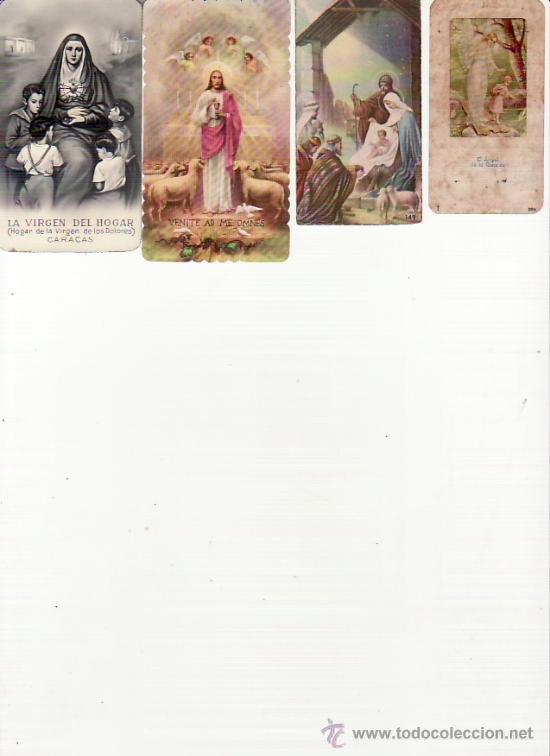 LOTE DE 4 RECORDATORIOS. VER FOTOS ADICIONALES. MAS COLECCIONISMO EN RASTRILLOPORTOBELLO (Postales - Postales Temáticas - Religiosas y Recordatorios)