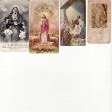 Postales: LOTE DE 4 RECORDATORIOS. VER FOTOS ADICIONALES. MAS COLECCIONISMO EN RASTRILLOPORTOBELLO. Lote 19206392