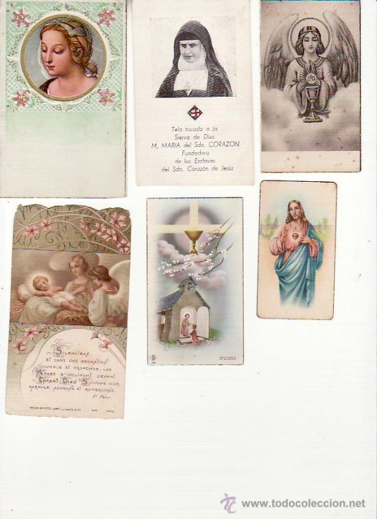 LOTE DE 6 RECORDATORIOS. VER FOTOS ADICIONALES. MAS COLECCIONISMO EN RASTRILLOPORTOBELLO (Postales - Postales Temáticas - Religiosas y Recordatorios)