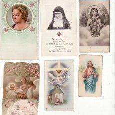 Postales: LOTE DE 6 RECORDATORIOS. VER FOTOS ADICIONALES. MAS COLECCIONISMO EN RASTRILLOPORTOBELLO. Lote 27575194