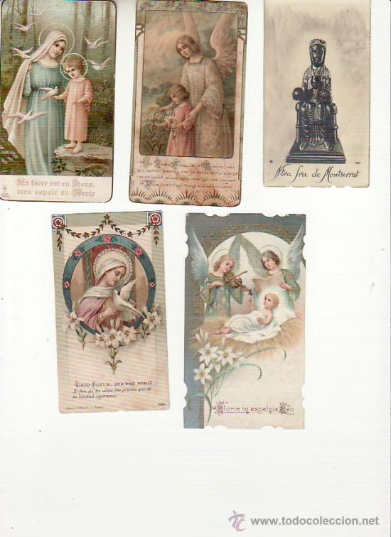LOTE DE 5 RECORDATORIOS. VER FOTOS ADICIONALES. MAS COLECCIONISMO EN RASTRILLOPORTOBELLO (Postales - Postales Temáticas - Religiosas y Recordatorios)