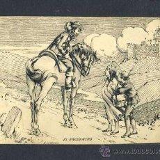 Postales: POSTAL RELIGIOSA DE LA VIDA DE SANTA TERESA DE JESUS, AVILA. EL ENCUENTRO (ED.MATEU). Lote 19223245
