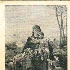 Postales: ESTAMPA RELIGIOSA - LA DIVINA PASTORA. Lote 19336640