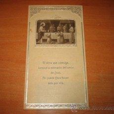 Postales: RECORDATORIO PRIMERA COMUNION 16 DE MAYO DE 1929 CELEBRADA EN LA CAPILLA SAN VICENTE DE PAUL. Lote 19961107