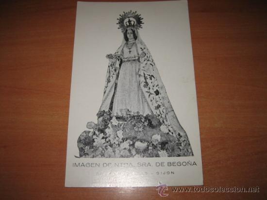 IMAGEN DE NTRA SRA DE BEGOÑA PP.CARMELITAS-GIJON (Postales - Postales Temáticas - Religiosas y Recordatorios)