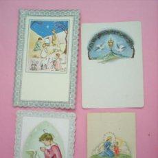 Postales: 4 RECORDATORIOS AÑOS 50-60 DE COMUNION. Lote 20419045