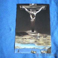 Postales: POSTAL RECORDATORIO SEMANA SANTA PARROQUIA DE LES PLANES 1990 CRISTO DALI. Lote 20856881