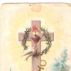 Postales: ANTIGUA ESTAMPA NON SUNT CONDIGNAE PASSIONES HUJUS TEMPORIS AD FUTURAM GLORIAM QUAE REVELABITUR IN N. Lote 26190086