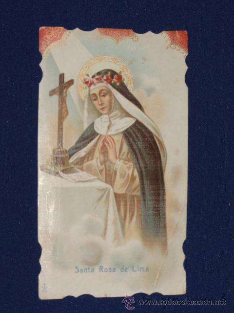 ESTAMPA RELIGIOSA - SANTA TERESA DE LIMA (Postales - Religiosas y Recordatorios)