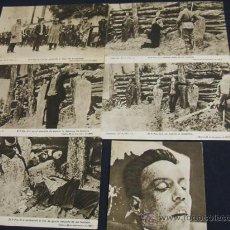 Postales: COLECCION DE 6 POSTALES DEL FUSILAMIENTO DEL PADRE MIGUEL PRO - MEJICO 23 NOVIEMBRE DE 1.927 -. Lote 26878875