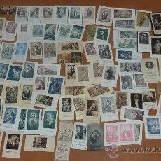 Postales: LOTE DE 94 ESTAMPAS RELIGIOSAS MUY ANTIGUAS. ORACION, COMUNION, RECORDATORIOS... EN CATALAN MUCHOS.. Lote 23409559