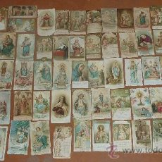 Postales: LOTE DE 52 ESTAMPAS RELIGIOSAS FINALES S.XIX PPS.XX PRECIOSAS. ORACION, COMUNION. EN CATALAN MUCHAS.. Lote 26994284