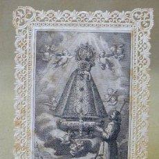 Postales: ANTIGUA ESTAMPA TROQUELADA, CALADA, NUESTRA SEÑORA DE LA ALMUDENA, 9X6.5 CM. Lote 96089340