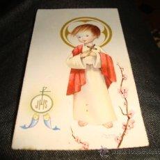Postales: ESTAMPA RELIGIOSA RECUERDO PRIMERA COMUNION 1963. Lote 24769762