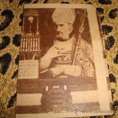 Postales: ANTIGUA ESTAMPA RELIGIOSA, PUBLICIDAD IGLESIA. Lote 24789756