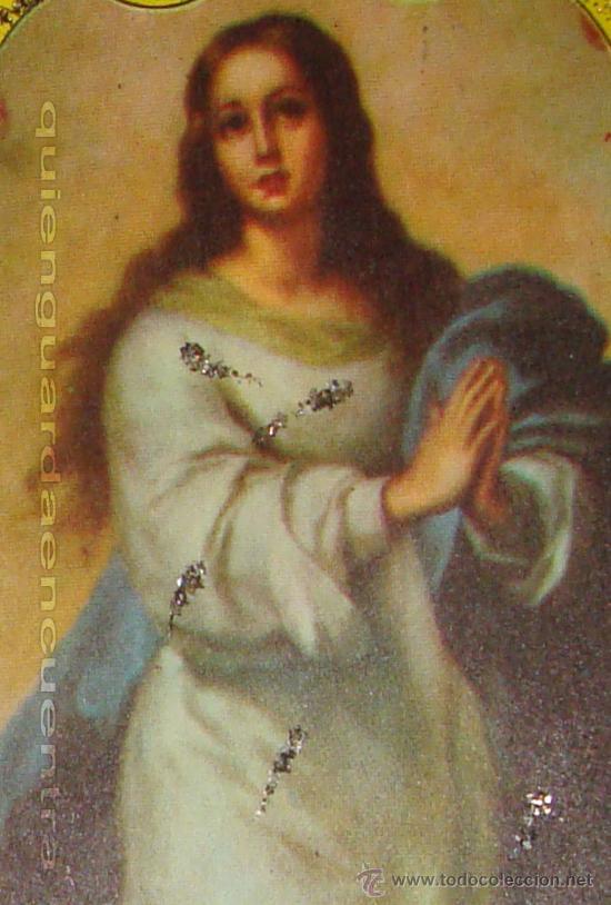 Postales: Postal de 1963 Cedag, troquelada y desplegable en relieve con bouquet de rosas-La Virgen Inmaculada - Foto 3 - 224424015