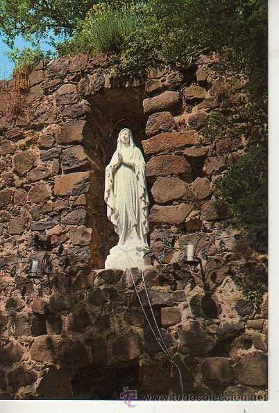 POSTAL RELIGIOSA -SAN MAURICIO GRUTA DE LOURDES CALDAS DE MALAVELLA GERONA (Postales - Postales Temáticas - Religiosas y Recordatorios)