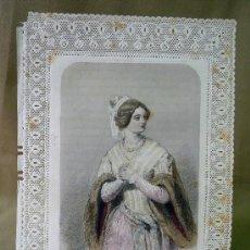 Postales: ESTAMPA DE PUNTILLA, TROQUELADA, LE COLLIER, G. DE GONET EDITEUR, 26 X 18 CM. Lote 25737562