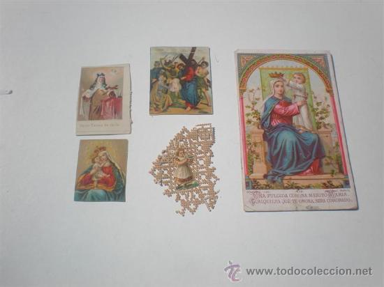 5 POSTALES RELIGIOSAS ANTIGUAS (Postales - Postales Temáticas - Religiosas y Recordatorios)