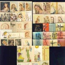 Postales: LOTE DE 52 ESTAMPAS RELIGIOSAS DIFERENTES. Lote 27341381