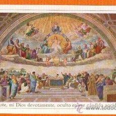 Postales: ANTIGUA ESTAMPA AÑO 1929 COFRADIA SACRAMENTAL PARROQUIA DE SAN ANTOLIN DE MURCIA . Lote 27303371